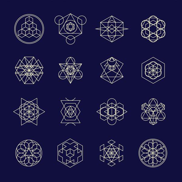 效果图所需点数: 0 点 关键词: 白色线性几何图案矢量素材,图形,插图图片