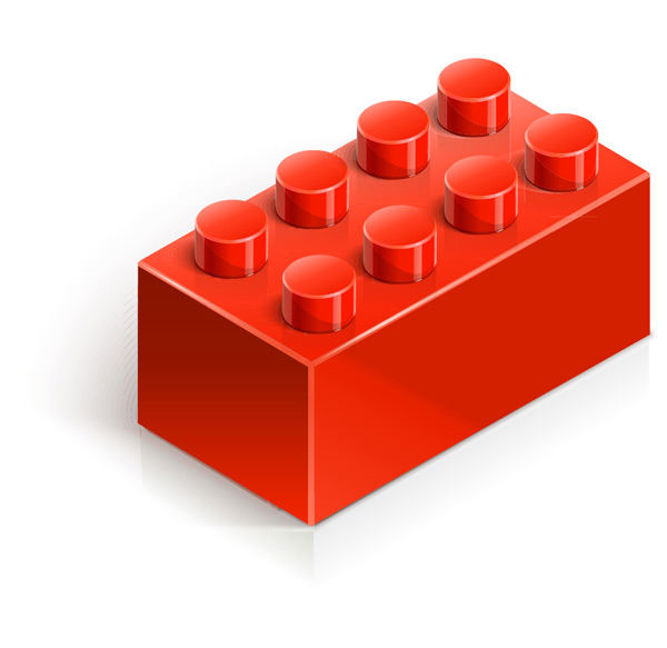 其它所需点数: 0 点 关键词: 白色背景上的红色积木玩具矢量素材
