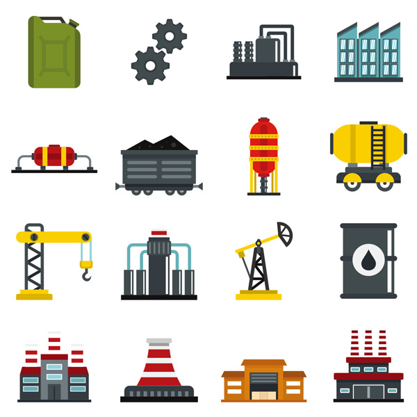 素材分类: 其它所需点数: 0 点 关键词: 多彩平面工业图标集合矢量