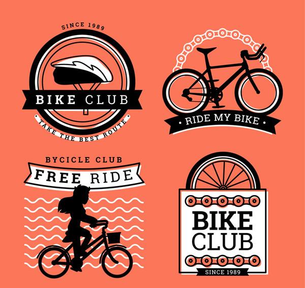 人物,剪影,曲线,女子,车轮,单车,运动,自行车,俱乐部,标签,矢量图,ai
