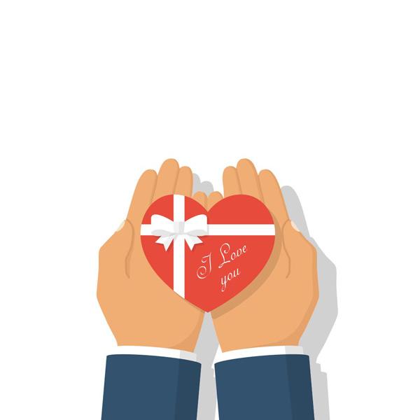 0 点 关键词: 双手上的爱心礼包矢量素材,手上的爱心,红色爱心,手捧