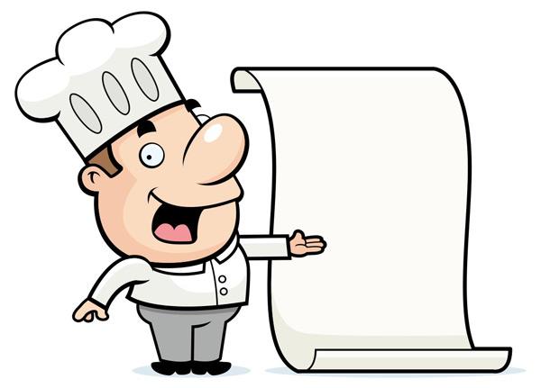 可爱卡通厨师