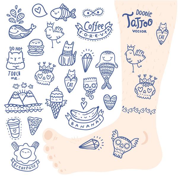 可爱纹身图案
