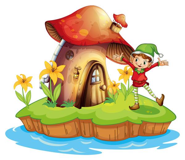 其它所需点数: 0 点 关键词: 海岛上的蘑菇屋和开心的孩子矢量素材