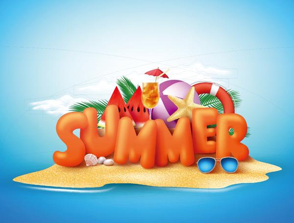夏天旅游度假横幅