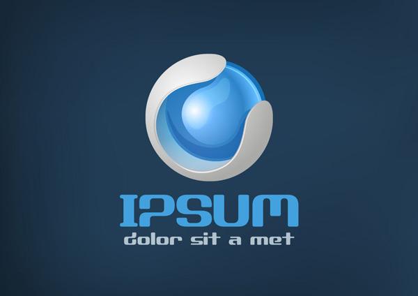 立体logo,眼球,科技logo,创意logo,商标,标志,标志设计,企业logo,行业