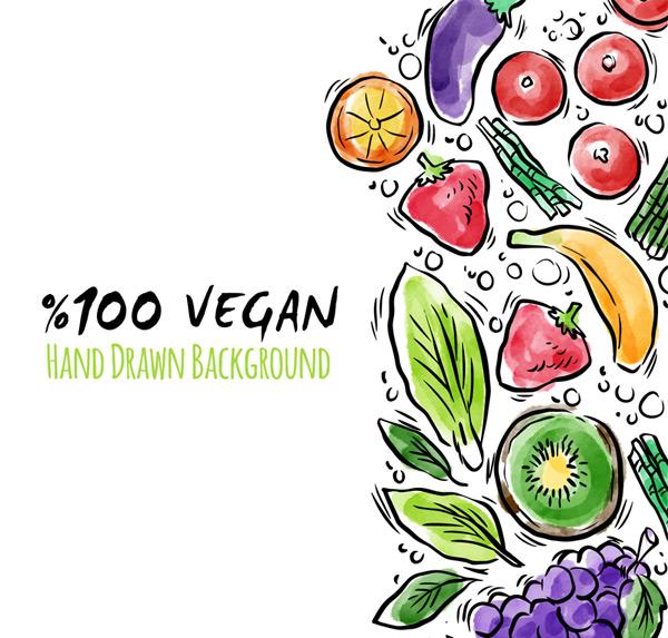 彩绘水果和蔬菜