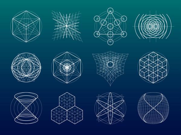 线性,几何图案,图形,图腾,神秘,标志,抽象,古代,艺术,占星术,创意设计图片