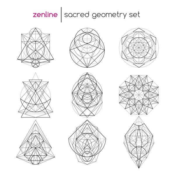 线型抽象几何图案