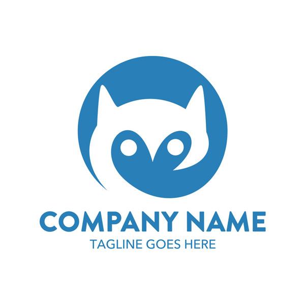抽象狐狸动物logo