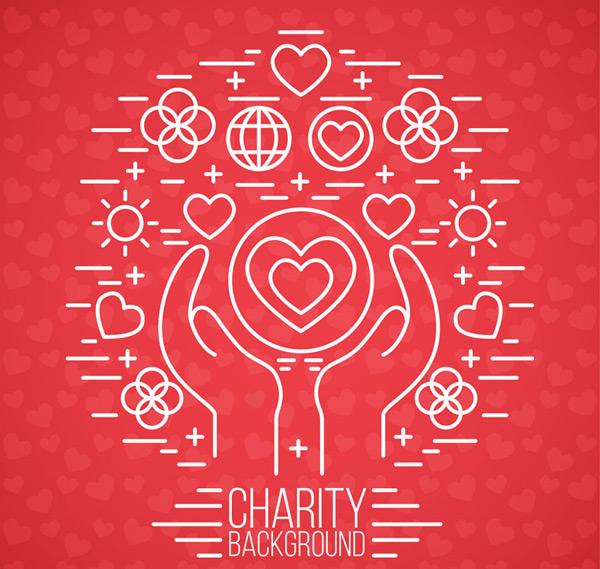 0 点 关键词: 红色手捧爱心的慈善背景矢量素材,地球,太阳,捐献,捐助