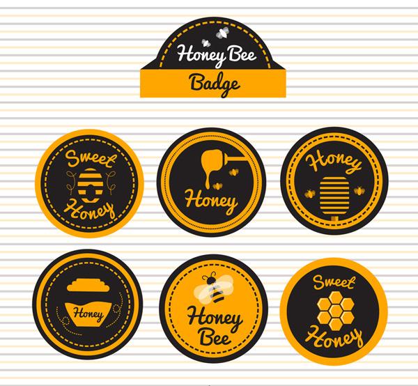圆形蜂蜜徽章
