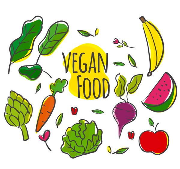 素材分类: 矢量食材所需点数: 0 点 关键词: 8种彩绘素食蔬果矢量