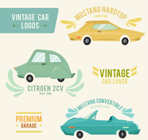 复古彩绘车辆标志