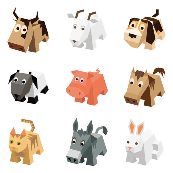 素材分类: 其它所需点数: 0 点 关键词: 多款等距3d动物矢量素材