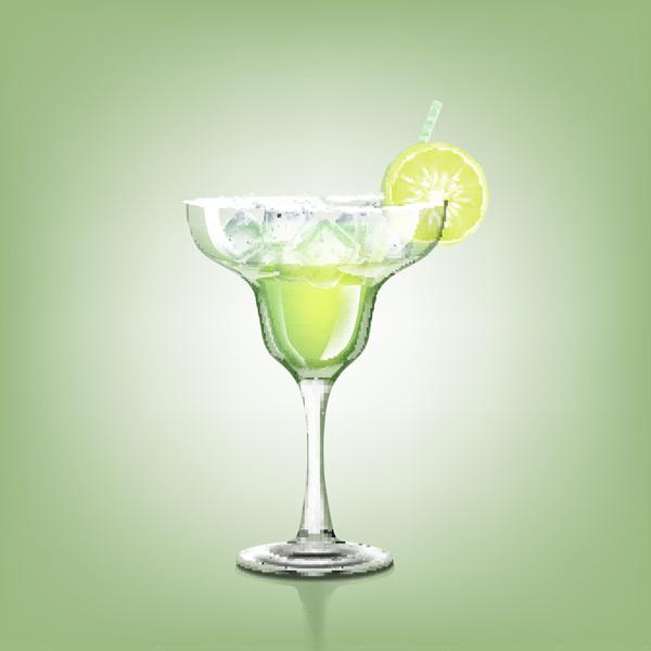 绿色背景,玻璃杯,高脚杯,冰块,柠檬,吸管,果汁,冷饮,酒水饮料,餐饮