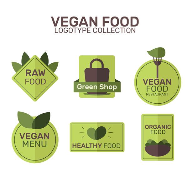 扁平化素食标志