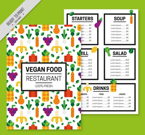蔬菜素食菜单