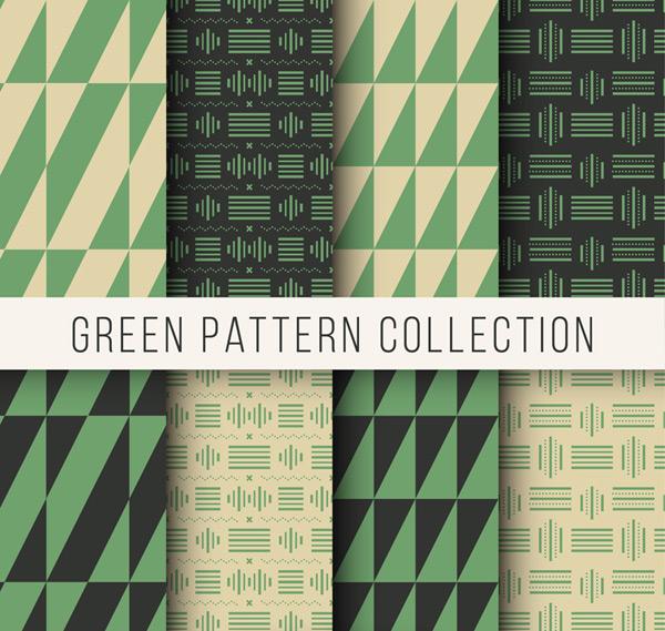 绿色系图案背景