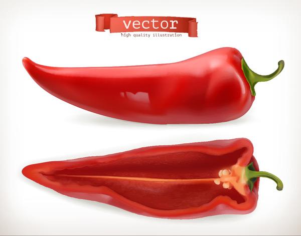 切开的红辣椒