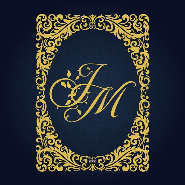 金色,高档,精美,欧式花纹,边框,花边,字母,椭圆形,设计,背景,创意