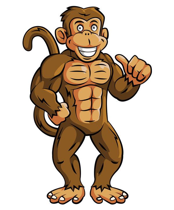 卡通猴子矢量