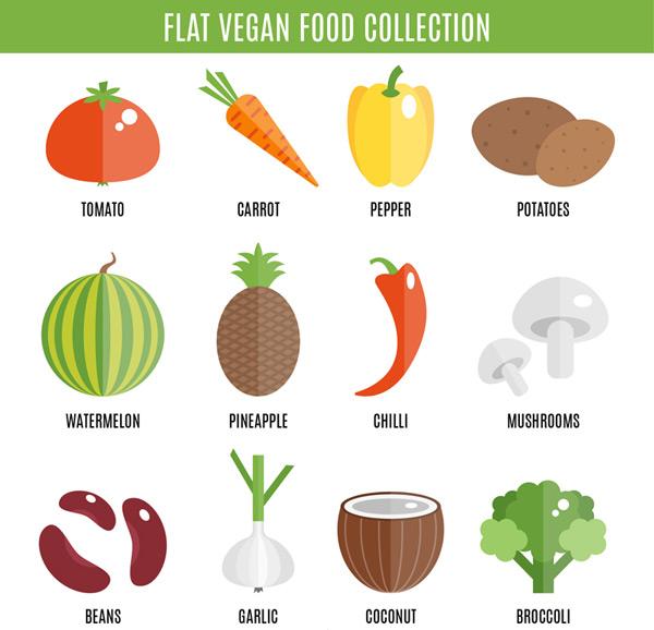扁平化素食食物