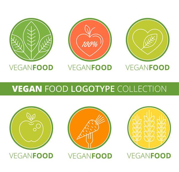 圆形素食标志