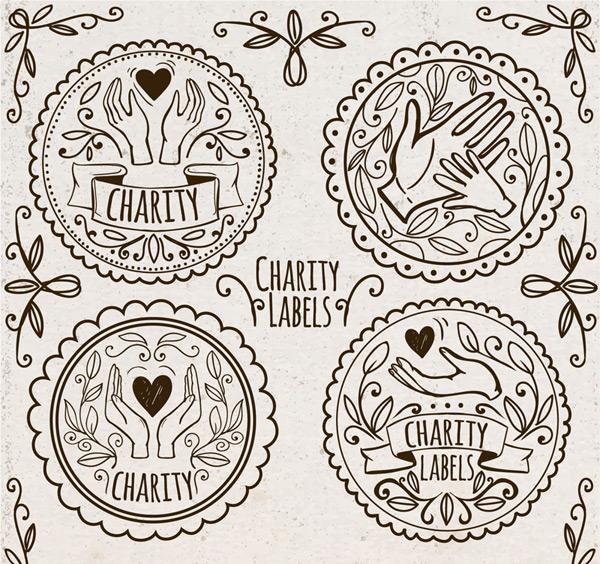 慈善捐助标签