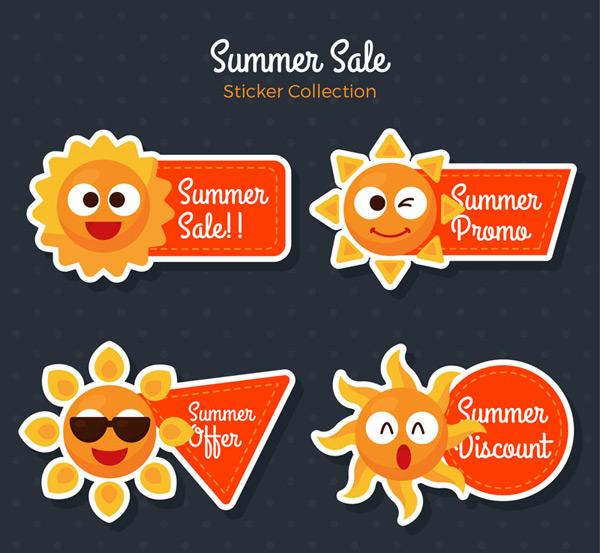 夏季促销贴纸