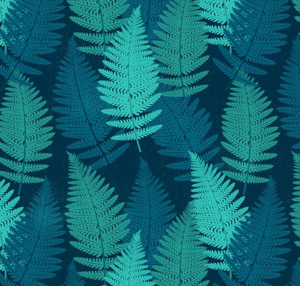 蕨类叶子无缝背景