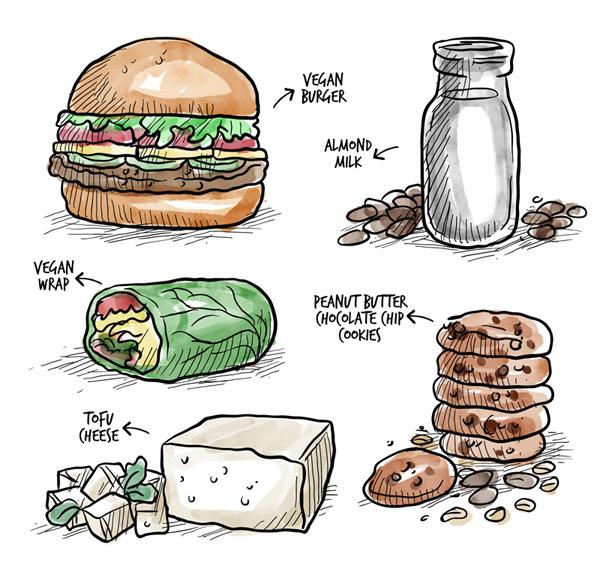 美味素食食物
