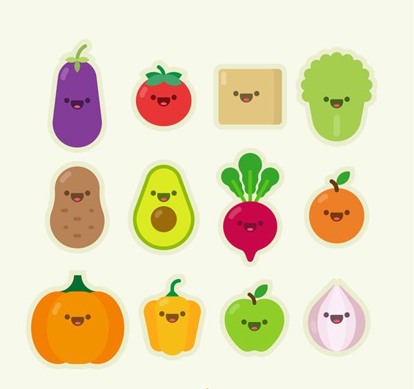 蔬菜和水果表情