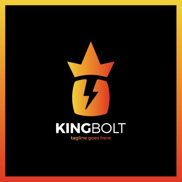 橙色渐变皇冠logo矢量素材,皇冠,闪电,商业,能源,危险,电力,符号