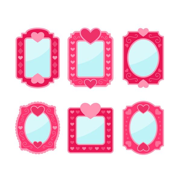 玫红色镜子设计