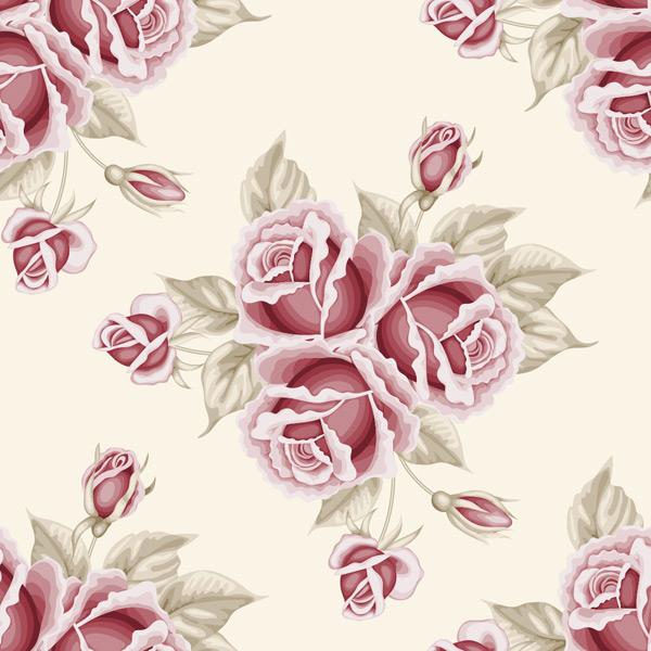 玫瑰花朵背景矢量素材,手绘植物,紫色花朵,植物背景,花朵,鲜花,水彩画
