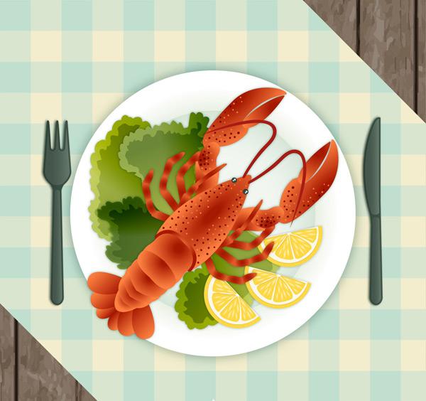 美味龙虾料理