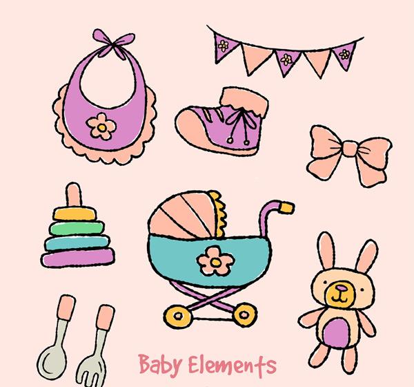 婴儿用品元素