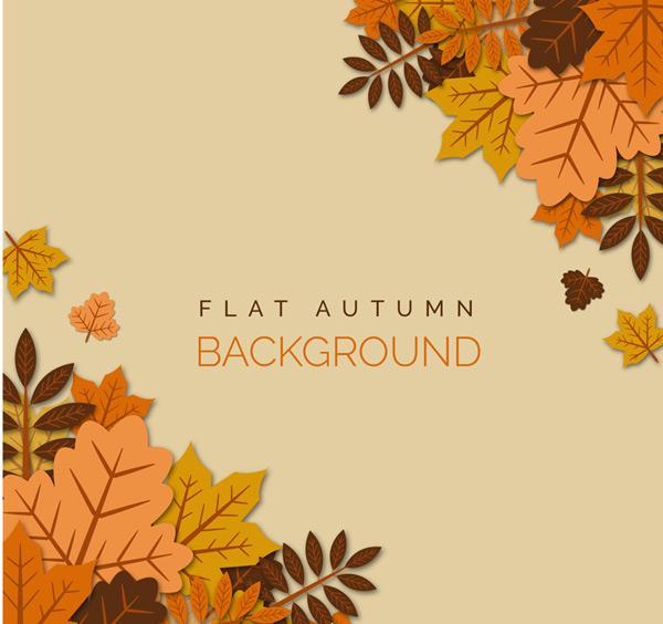 秋季叠加树叶背景