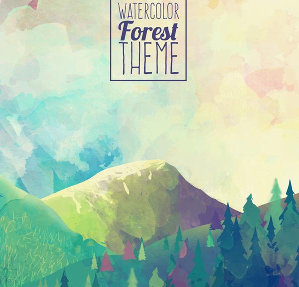 森林山脉风景