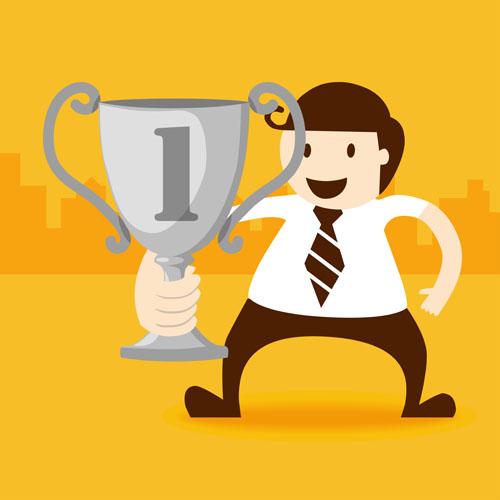 0 点 关键词: 拿奖杯的商务人物矢量素材免费下载,奖杯,商务人物,职场