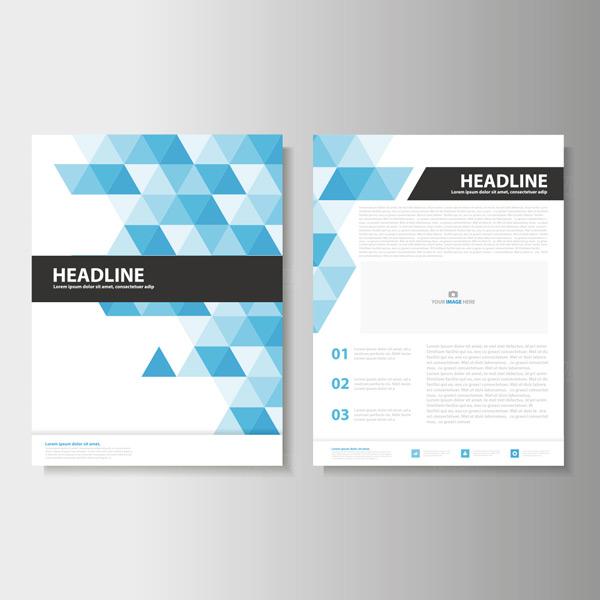 几何商业画册传单
