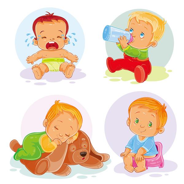 可爱卡通小婴儿
