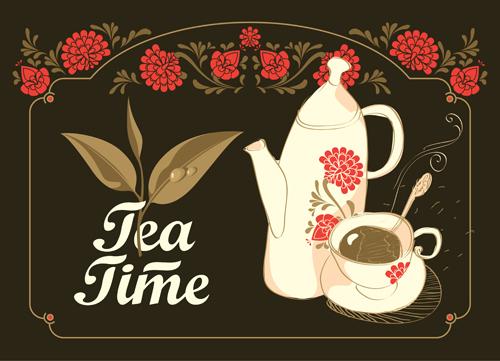 茶文化插画