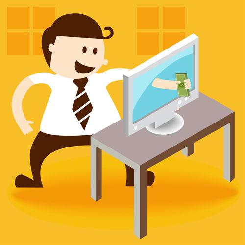 职场人物创意设计矢量素材,矢量素材,矢量图,商务,职场,卡通,可爱