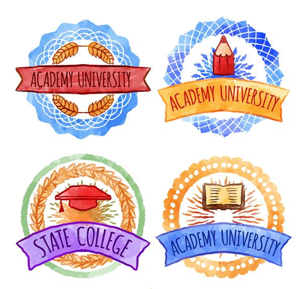 大学校园徽章