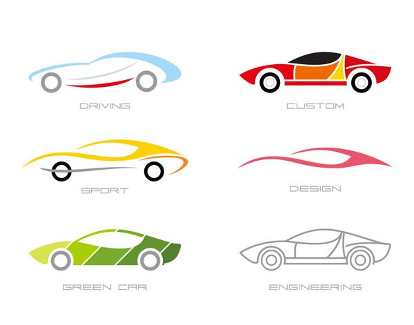 创意图形,跑车,汽车,车辆,标志,logo,图标,商业,设计,矢量素材,eps