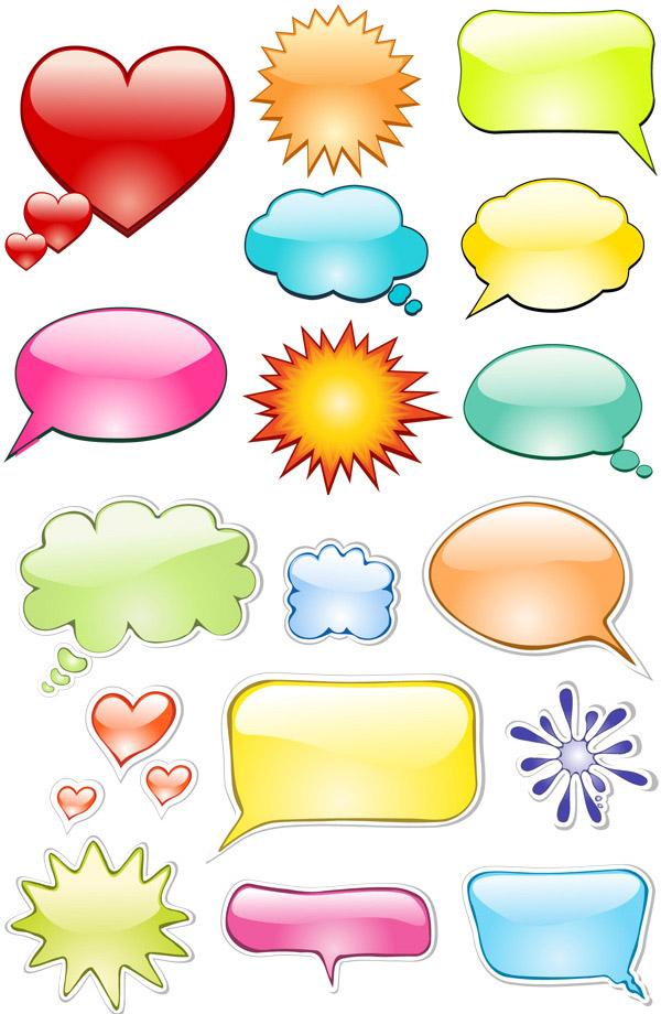 创意图形对话框矢量素材