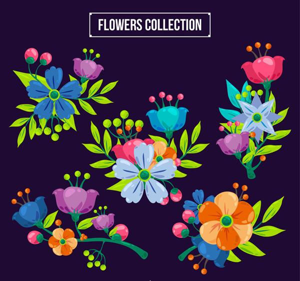 花瓣花朵矢量