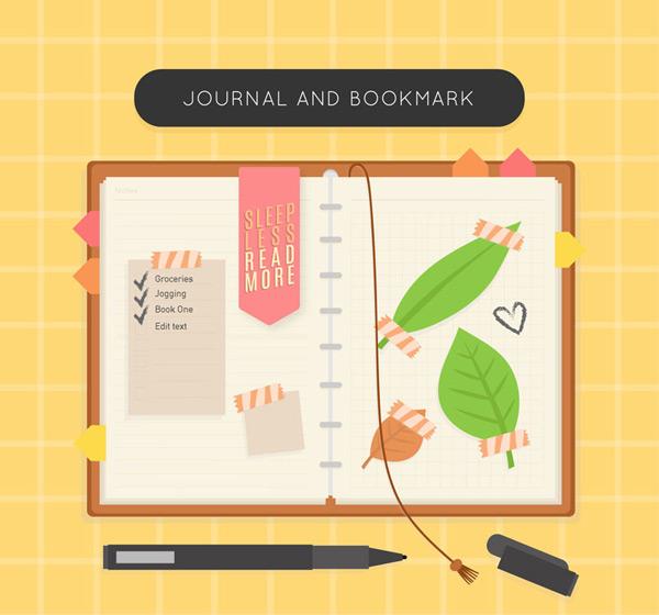日记本和书签